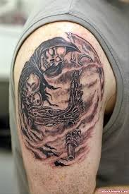 grim reaper shoulder tattoo samples tattoo viewer com