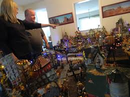 for halloween pair build a village of the dead in their