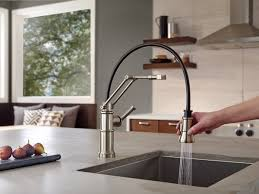 articulated kitchen faucet single handle articulating kitchen faucet 63225lf ss artesso