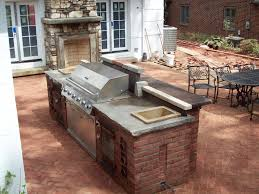 kitchen simple outdoor cinder block fireplace concrete blocks