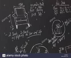 Interior Design Sketches Furniture Design Sketches On A Blackboard Interior Design