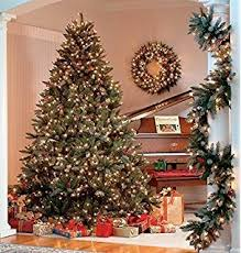Pre Decorated Christmas Trees 7ft Luxury Regency Fir Christmas Tree Pre Fitted With Cones U0026 Red