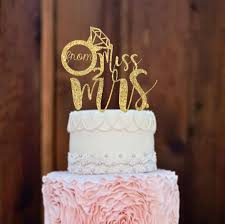 Bridal Shower Decor by Cake Topper Bridal Shower Decorations Engagement Cake Topper