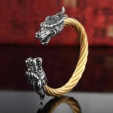 dragon bracelet jewelry images Vintage punk 316l stainless steel dragon bracelets for men jewelry jpeg