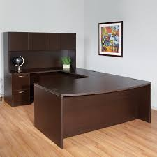 U Shaped Desks Shop Office Napa Transitional Espresso U Shaped Desk At Lowes