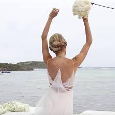 calvin klein wedding dresses helena bordon s calvin klein wedding dress popsugar fashion