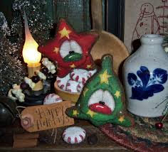 primitive vtg patti u0027s ratties gingerbread christmas star bell