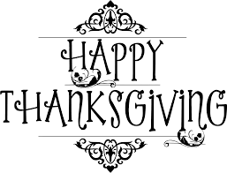 clipart happy thanksgiving typography black no background