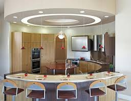 interior lass round unique kitchen island lighting with white