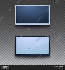 led tv hanging on wall on vector u0026 photo bigstock