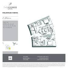 Burj Al Arab Floor Plans Floor Plans The Address Fountain Views Downtown Dubai By Emaar