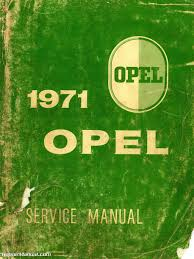 1971 opel 1900 u0026 gt service manual