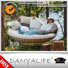 swingrest danyalife luxury villa backyard poly rattan hanging