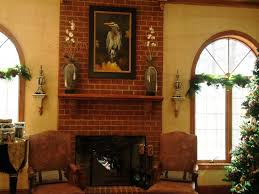 living room classic painting fireplace brick tile for living