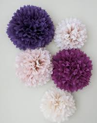 tissue paper decorations 5 pom poms garden tissue paper pom poms purple poms