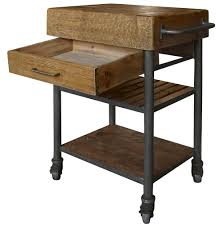 reclaimed kitchen island kershaw rustic chunky reclaimed wood iron single drawer kitchen