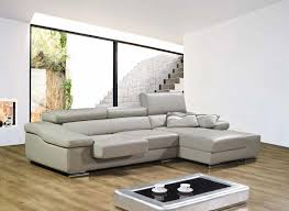Modern Leather Sofa With Chaise L White Leather Sectional Sofa With Chaise And Back On Brown