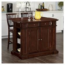 kitchen island and stools americana kitchen island two stools cherry home styles target
