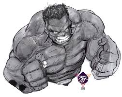 late night quick hulk sketch by renomsad on deviantart