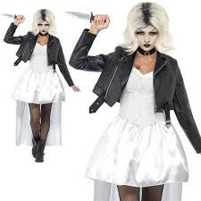 bride of chucky costume ladies halloween fancy dress size 12 14