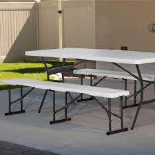 Picnic Table Bench Combo Plan Bench Folding Table With Bench Redwood Rectangular Folding