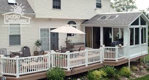 Enclosed Porch Plans Enclosed Patio With Stairs Designs Sunroom With Deck And