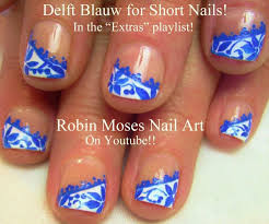 37 best nails blue white delft images on pinterest blue nails