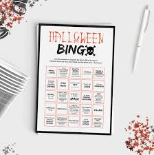halloween bingo scavenger hunt favors u0026 stuff