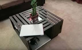 Diy Coffee Tables Diy Crate Coffee Table Hometalk