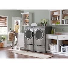 Samsung Blue Washer And Dryer Pedestal Samsung He Washer U0026 Dryer Set With Pedestals Front Load Gray