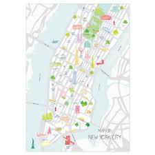 New York City Map Holly Francesca Holly Francesca Map Of New York City A3 Truce