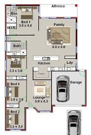 Floor Plan 4 Bedroom Bungalow 35 Best 4 Bedroom House Plans Images On Pinterest 4 Bedroom