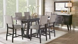 mesmerizing 5 piece broward counter height dining table set wood