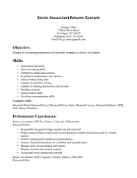 Sample Resume Objective For Accounting Position Junior Accountant Sample Resume Resume For Your Job Application