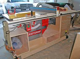 Table Saw Cabinet Plans Mobile Tablesaw Front Woodworking Table Saw Pinterest