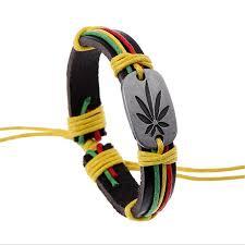 leather leaf bracelet images Hiphop style women men leather maple leaf bracelet wristband jpg