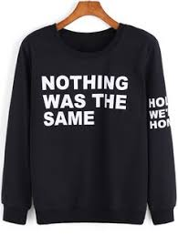 black slogan print long sleeve sweatshirt shops cats and fit