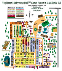 Up Map Resort Map Jellystone Park In Caledonia Wi