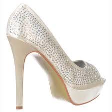 wedding shoes toe onlineshoe ivory peep toe diamante stiletto platform