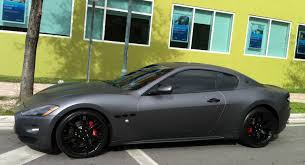 maserati granturismo blacked out matte gray maserati granturismo exotic cars on the streets of miami
