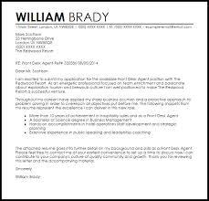 front desk agent cover letter sample