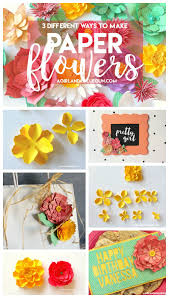 how to make paper flowers a and a glue gun