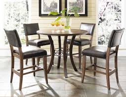 Solid Wood Dining Table On Dining Room Table And Elegant Counter - Oak counter height dining room tables