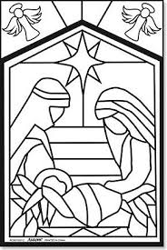amazon arts u0026 craft nativity color stained glass