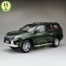 land cruiser prado car 1 18 scale toyota land cruiser prado diecast suv car model green