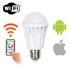 light bulbs controlled by iphone wifi smart led light bulb andriod iphone ipad ios phone and
