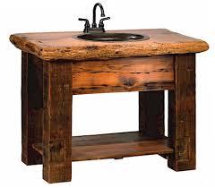 Barnwood Bathroom Vanity Reclaimed Barnwood Vanity Bavr04 Barn Wood Vanity The Log