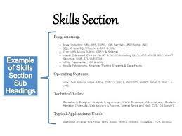 resume exles skills resume sle skills section danaya us