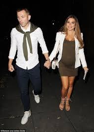 tanya bardsley flaunts her baby bump in khaki dress with husband