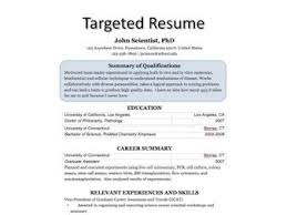 targeted resume template exle of targeted resume exles of resumes
